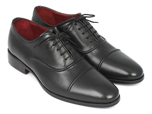 Paul Parkman Men's Captoe Oxfords Black (ID#077-BLK)