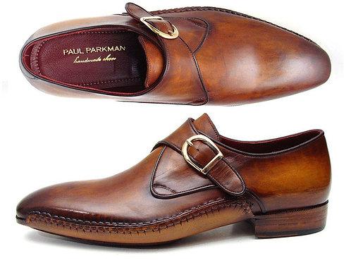 Paul Parkman Men's Single Monkstraps Brown Leather (ID#69V5E)