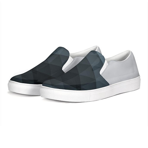 FYC Silver Two Tone Venturer Canvas Slip-On Casual Shoes