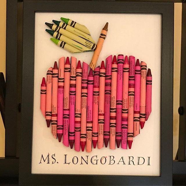 Teacher Appreciation Crayon Apple Gift