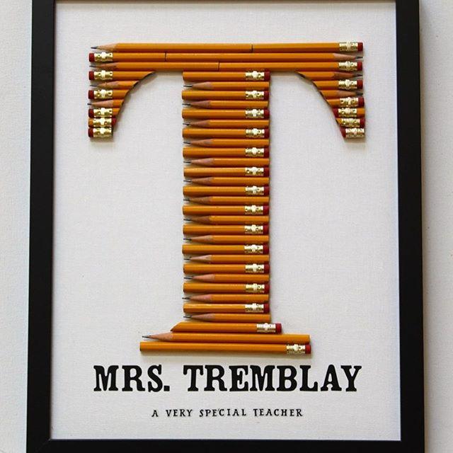 Custom No2 Pencil Teacher Monogram