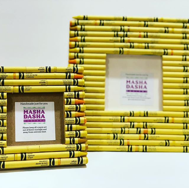 Crayon Picture Frames