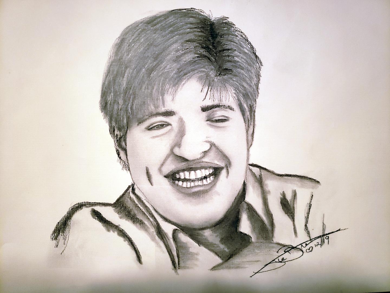 Charcoal Sketch of my Nephew