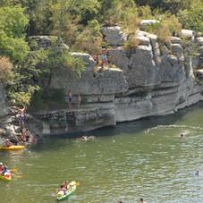 kanoën in de Ardèche