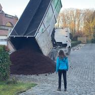 Storting van Compost