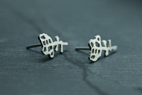 Earrings - Roses - sterling silver