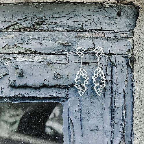 Øreringe - Leaves - sterling sølv