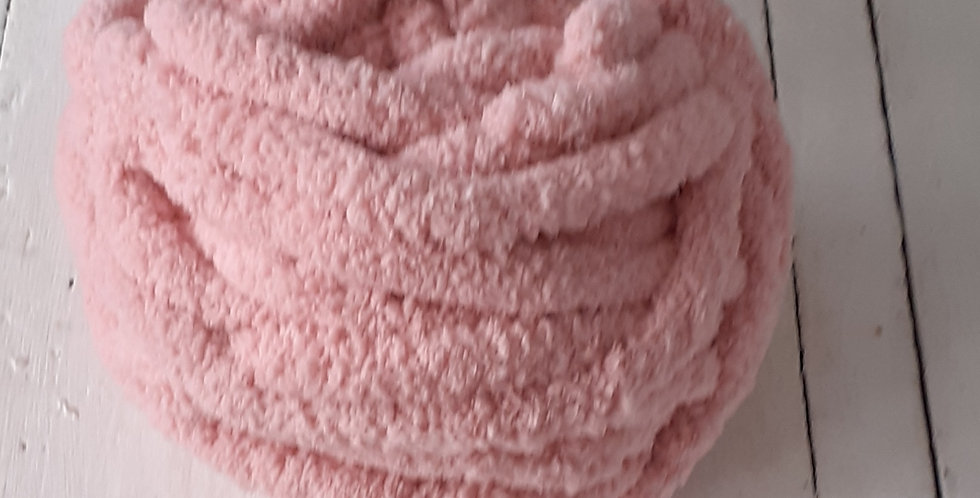 soft pink chenille yarn