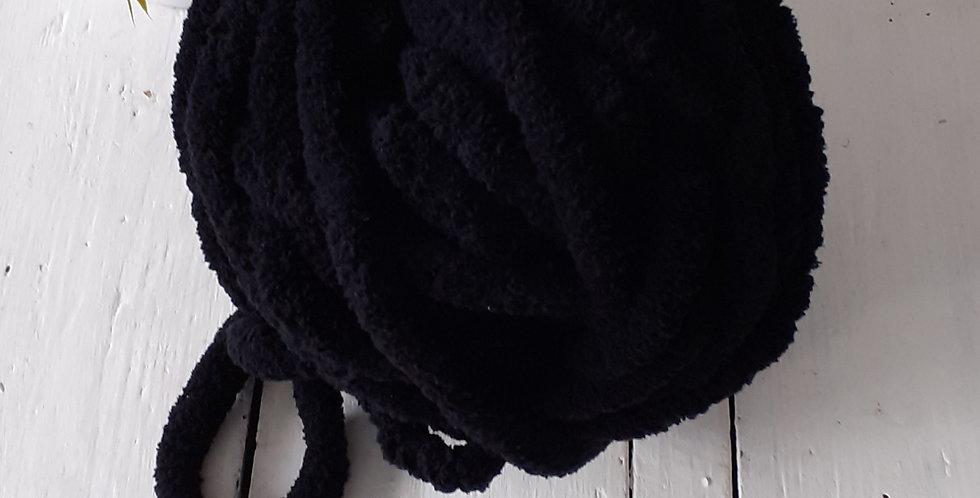 black chenille yarn