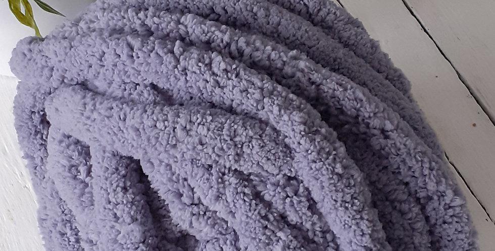 lavender grey chenille yarn