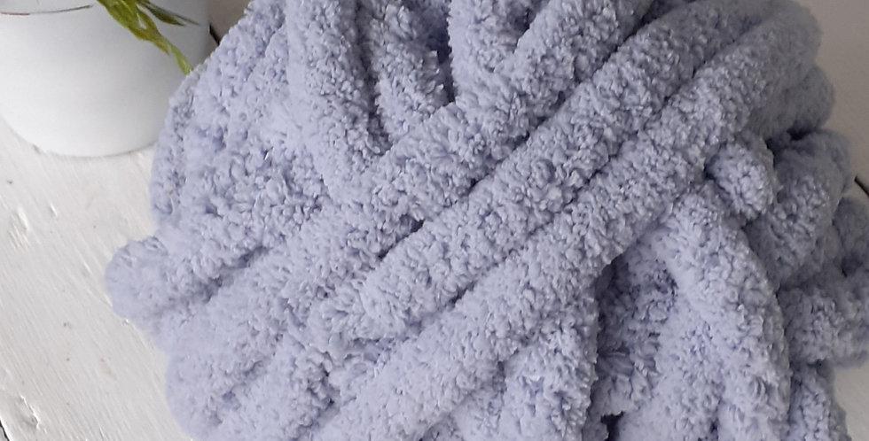 silver grey blue chenille yarn