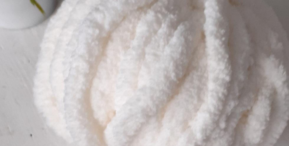 soft white chenille yarn