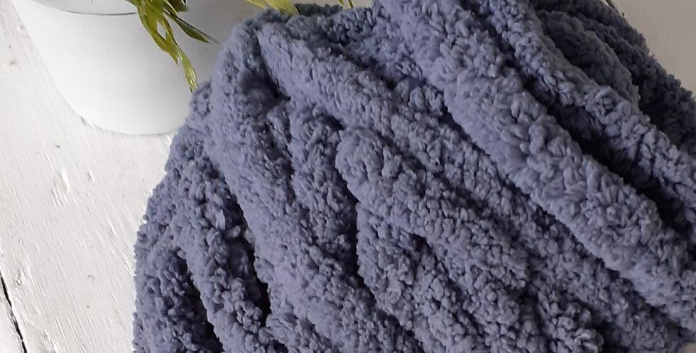 dark grey chenille yarn