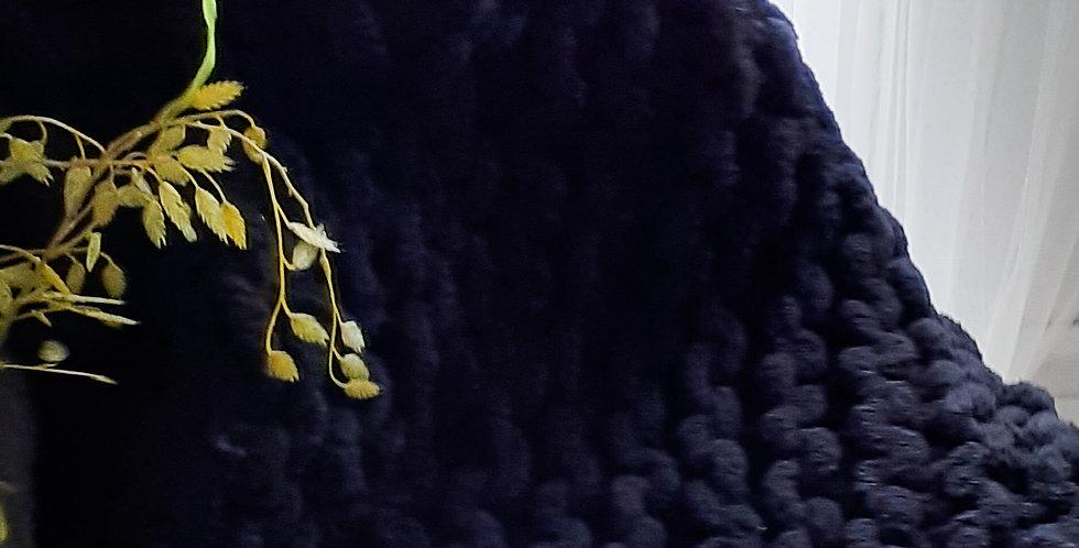 chunky knit blanket - black