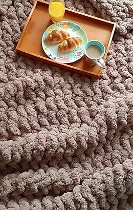 mushroom chunky blanket
