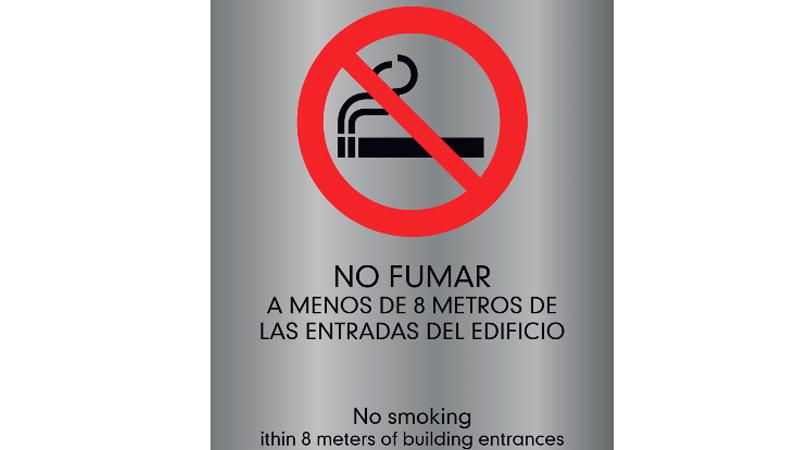 PLACA GRAVOPLI NO FUMAR