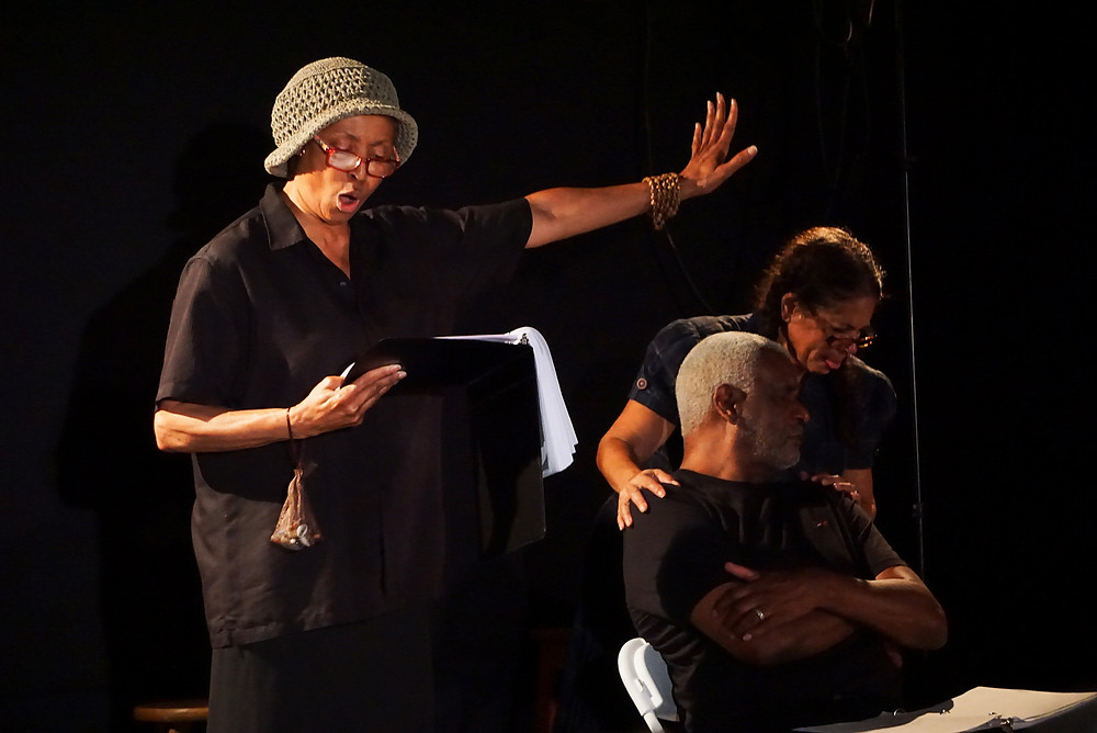 Ursaline Bryant in the role of  Granny D. with Richard Gant and Lynne Conner