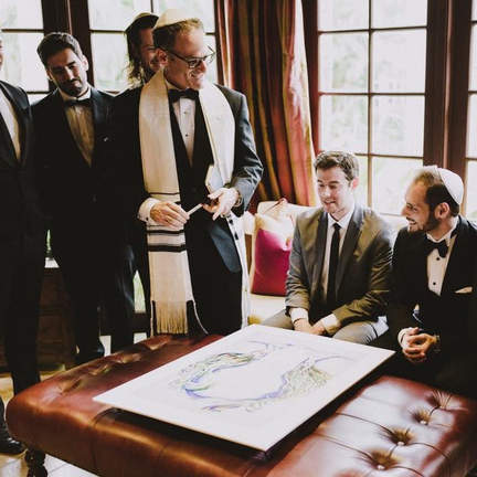 Blessing the groom
