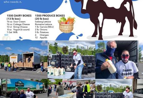 Scott supporting Clinton County Drive thru milk event