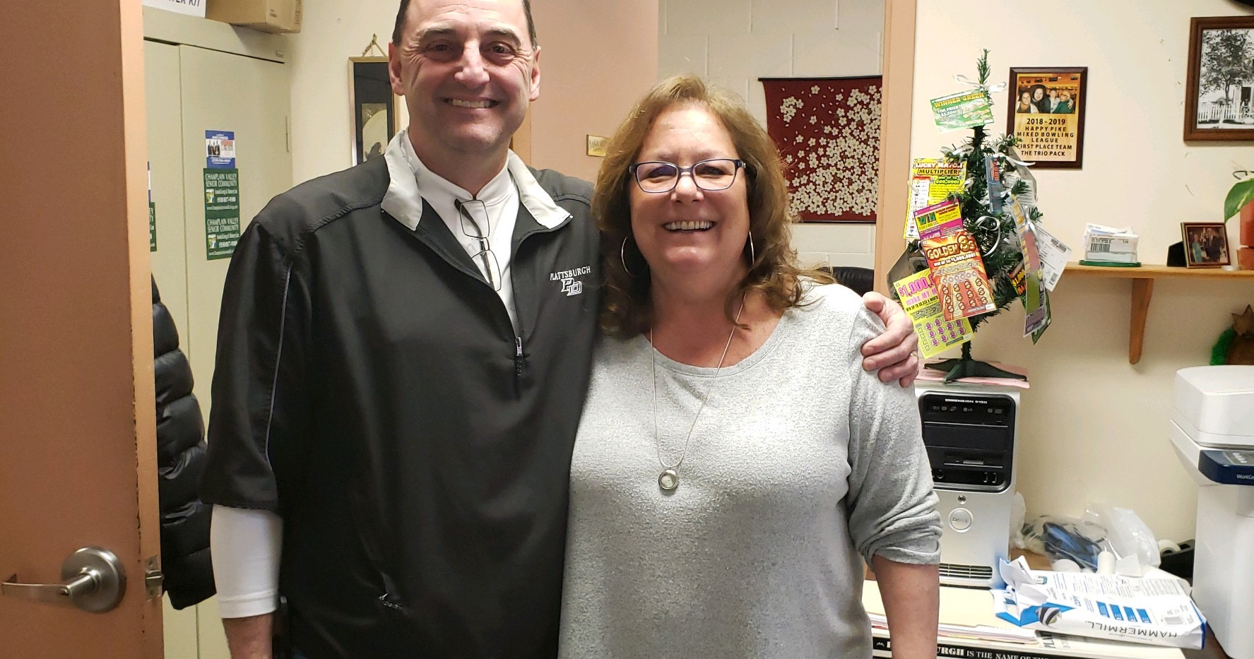 Scott with director of the Senior Center