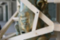 Daniele Accossato, Sculpture, contemporary art, apollo head, bronze
