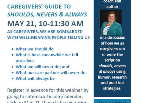 Caregivers' Guide to Shoulds, Nevers & Always