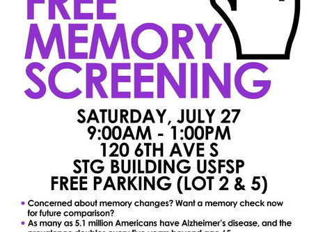 Memory Screening Event with USF St.Pete