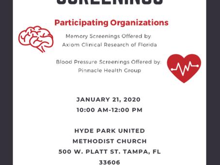 Free Health Screening Event