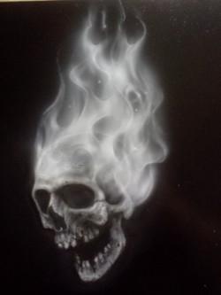 Flammin Skull