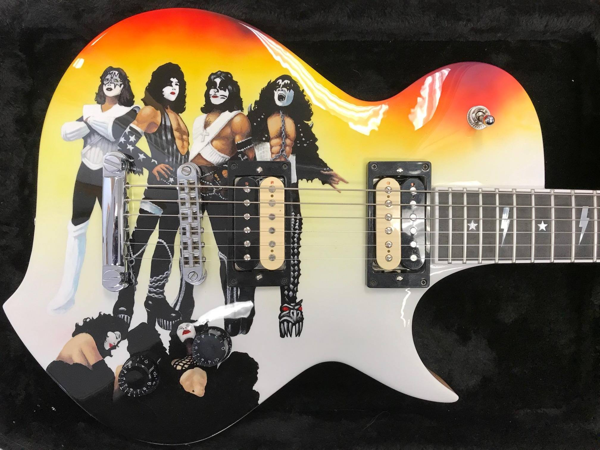 Kiss Guitar With Clear