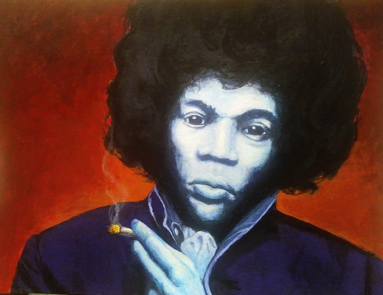 Jimi Hendrix Portrait Study