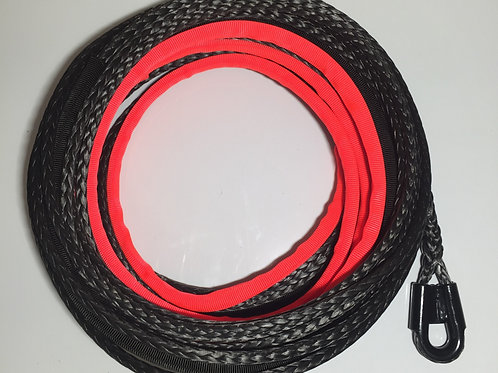 "7/16""  SYNTHETIC WINCH ROPE W/GUSSETED TUBE THIMBLE"