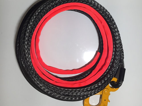 """7/16"""" SYNTHETIC  WINCH ROPE W/POSITIVE LOCKING HOOK"""