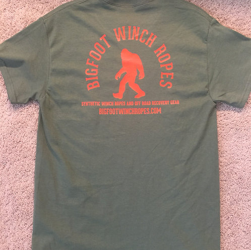 BIGFOOT WINCH ROPES T-SHIRT - OLIVE