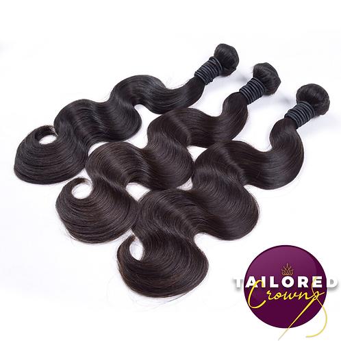 Tailored Crowns Virgin Body Wave Hair (Single Bundles)