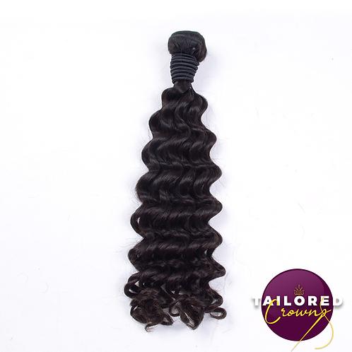 Tailored Crowns Virgin Deep Wave Hair (Single Bundles)