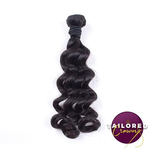 Tailored Crowns Virgin Loose Wave Hair (Single Bundles)