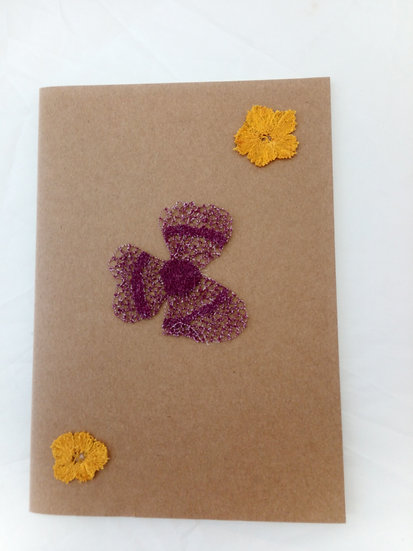 Notebooks/Sketchbooks with plain paper, embroidered or stamped