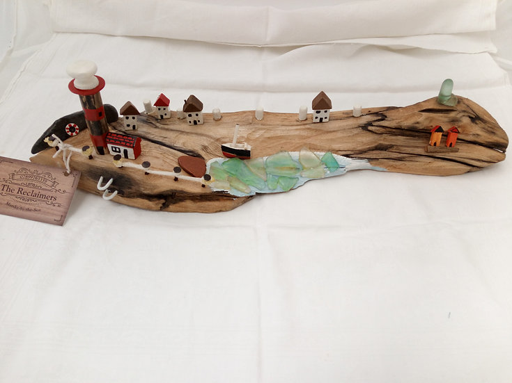 Driftwood Beach Scene