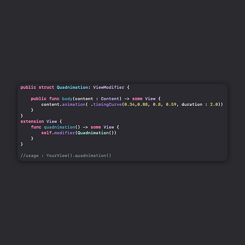 quadnimation view modifier swiftui ubico
