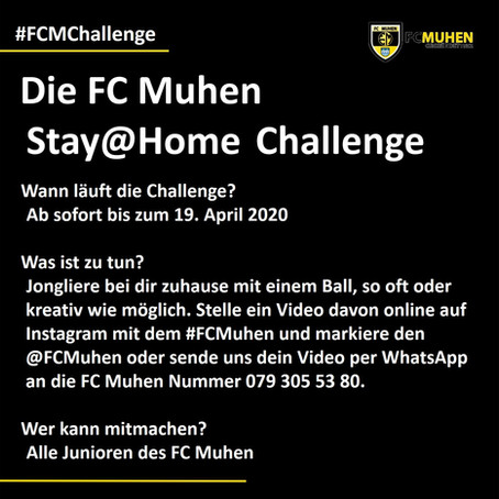 """Die FC Muhen """"Stay@Home"""" Challenge"""