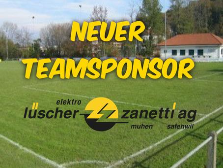 Der Vorstand informiert: Neuer Teamsponsor der 1. Mannschaft
