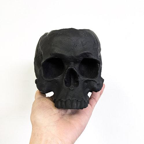 Skull Planter - 1/2 size - BLACK