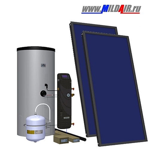 Комплект для ГВС+отопление дома (2-3 человек)