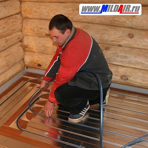 Теплый пол для деревянного дома, м.кв