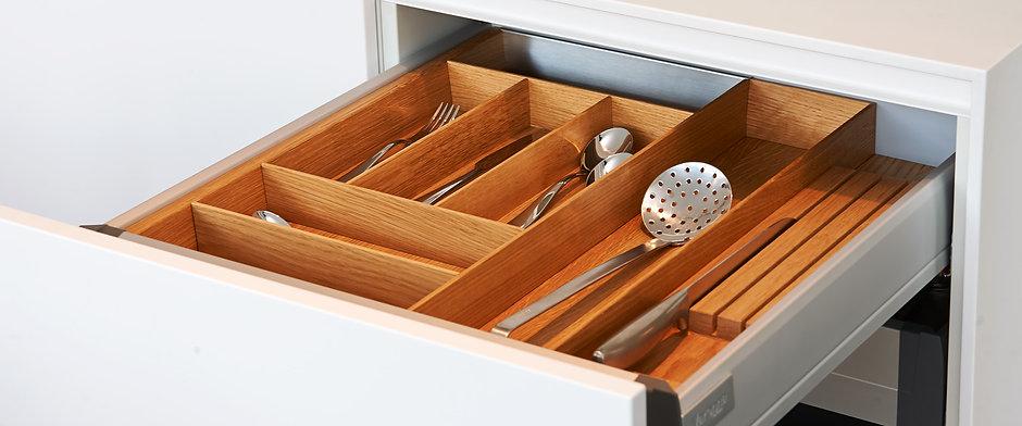 woodbox, Besteckeinsatz Eiche