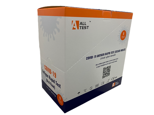 (In-Stock)(Limited Stock) 5-pcs All Test Antigen Rapid Test Kit 新冠病毒快速检测试剂盒5只装