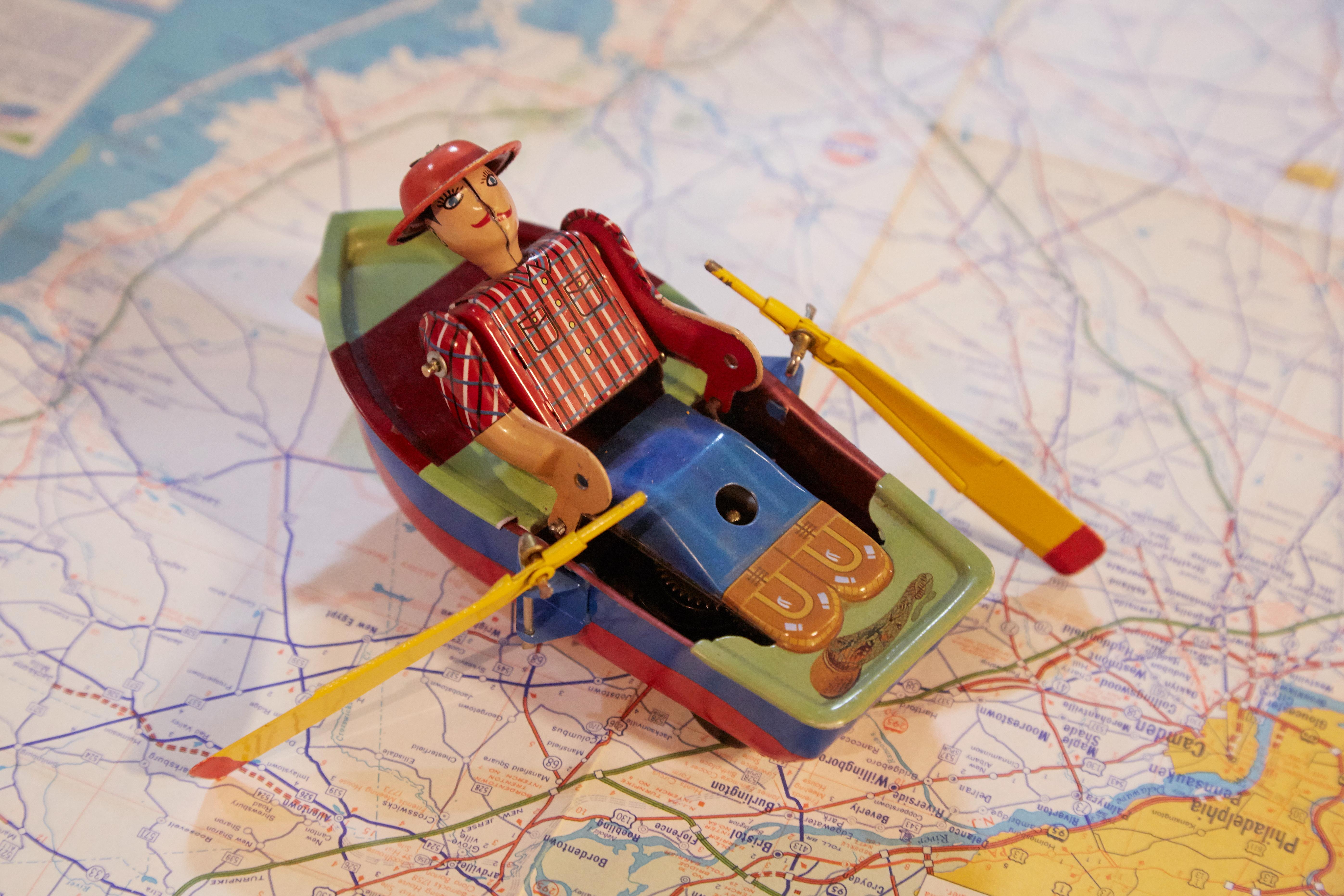 アンティーク鉄玩具ボート