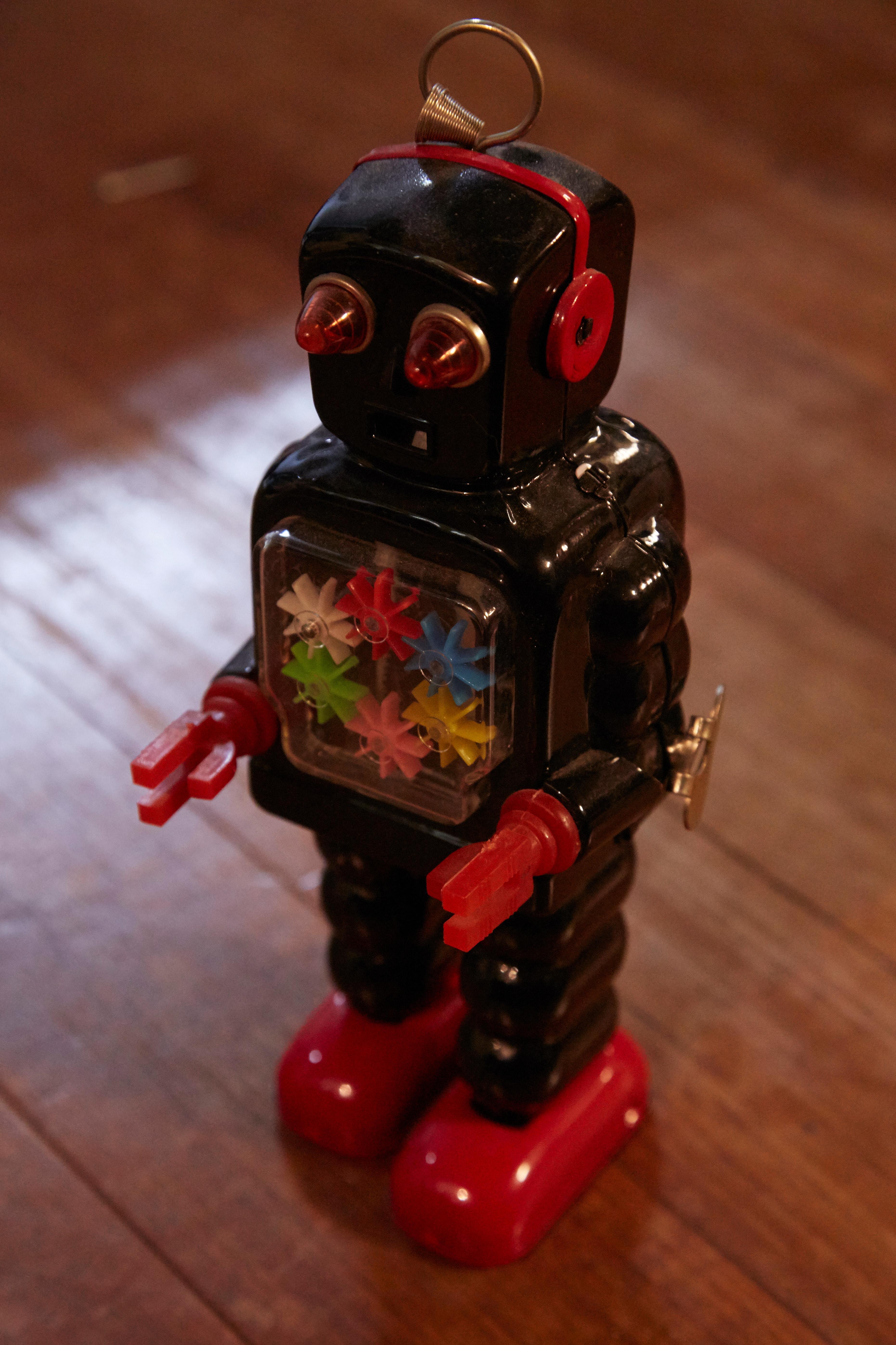 アンティーク鉄玩具ロボト