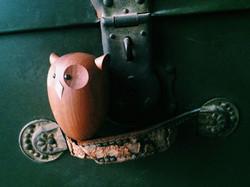木玩具フクロウ